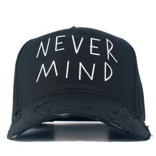 NEVERMIND CAP  (黒)