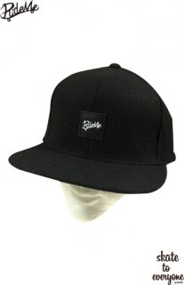 Leather emblem SNAP BACK CAP(Black/Black)