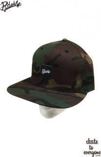 Leather emblem SNAP BACK CAP(Camo/Black)