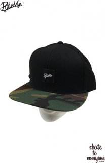 Leather emblem SNAP BACK CAP(Blackcamo/Black)