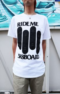 RideMe BLACK FLAG TEE WHITE
