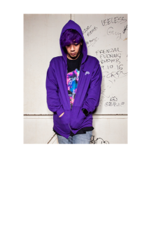 NEW SYMBOL LOGO ZIP Hoodie(Purple)