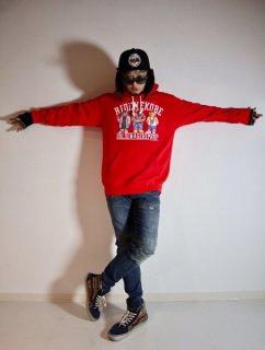 GA HIPHOP HOODIE/RED
