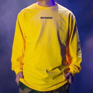 【BAD HANDS】 BAD HANDS LOGO Long Sleeve TEE(Yellow)