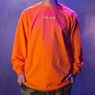 【BAD HANDS】 BAD HANDS LOGO Long Sleeve TEE(Orange)
