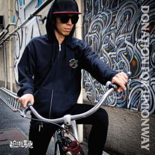 【DONATION FOR UNIONWAY】 Zip-up hoodie(BLACK)