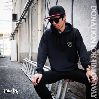 【DONATION FOR UNIONWAY】 Pullover hoodie(BLACK)