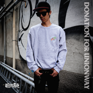 【DONATION FOR UNIONWAY】 Crew Sweat(GRAY)