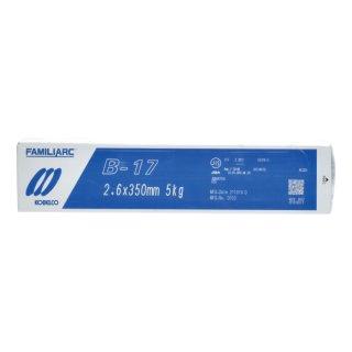 KOBELCO B-17(B17) 2.6mm×350mm 1kgバラ売り 神戸製鋼 棒耐割れ性・耐ピット性に優れ、永く使用される被覆アーク溶接棒
