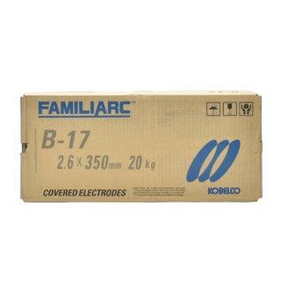 KOBELCO B-17(B17) 2.6mm×350mm 20kg 神戸製鋼 棒耐割れ性・耐ピット性に優れ、永く使用される被覆アーク溶接棒