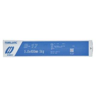 KOBELCO B-17(B17) 5.0mm×400mm 5kg/小箱 神戸製鋼 棒耐割れ性・耐ピット性に優れ、永く使用される被覆アーク溶接棒