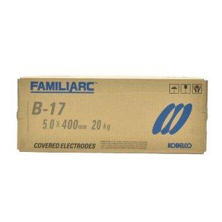 KOBELCO B-17(B17) 5.0mm×400mm 20kg/大箱 神戸製鋼 棒耐割れ性・耐ピット性に優れ、永く使用される被覆アーク溶接棒