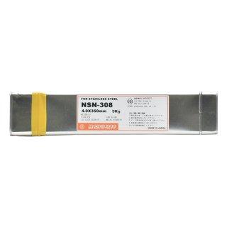 ステンレス鋼の溶接に NSN-308 φ4.0mm×350mm 1kg ニツコー熔材(ニッコー日亜溶接棒) 被覆アーク溶接棒