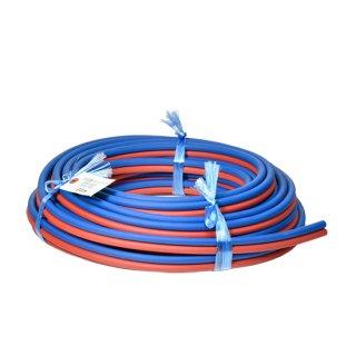 十川 細径ツインホース 5×5×2S (青+赤) 20m巻