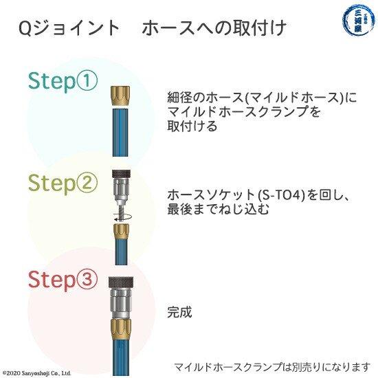 千代田精機 溶断用ホース継手QジョイントSTO4のホースへの取り付け方