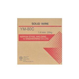 溶接用ソリッドワイヤ YM-80C φ1.4mm×20kg巻 780MPa級高張力鋼用 日鉄溶接工業 (旧:日鉄住金溶接工業 NSSW)
