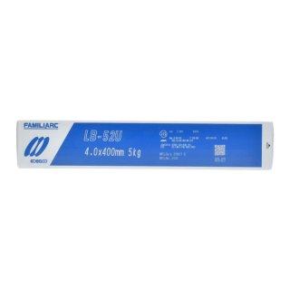 KOBELCO LB-52U(LB52U) 4.0mm×400mm 5kg/小箱 神戸製鋼 被覆アーク溶接棒 美しい裏ビード