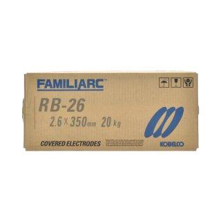 KOBELCO RB-26(RB26) 2.6mm×350mm 20kg/大箱 神戸製鋼 被覆アーク溶接棒 薄板用高酸化チタン系
