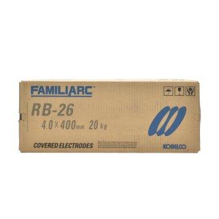 KOBELCO RB-26(RB26) 4.0mm×400mm 20kg/大箱 神戸製鋼 被覆アーク溶接棒 薄板用高酸化チタン系