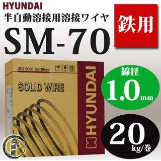 現代(ヒュンダイ) 低電流薄板用溶接ワイヤ SM-70(SM70) 1.0mm 20kg