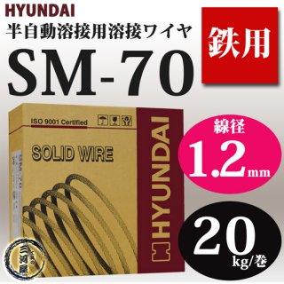 現代(ヒュンダイ) 低電流薄板用溶接ワイヤ SM-70(SM70) 1.2mm 20kg