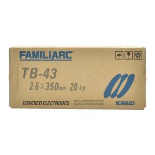 KOBELCO TB-43(TB43) 2.6mm×350mm 20kg/箱 神戸製鋼 被覆アーク溶接棒タック・断続・すみ肉溶接などに最適