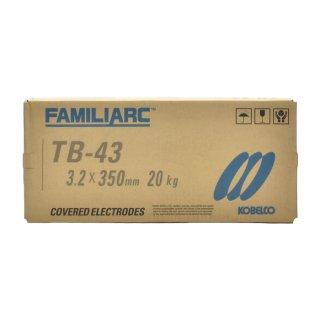 KOBELCO TB-43(TB43) 3.2mm×350mm 20kg/箱 神戸製鋼 被覆アーク溶接棒タック・断続・すみ肉溶接などに最適