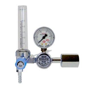 ヤマト産業株式会社 最大25L/minの流量計付 TIG溶接用アルゴンガス調整器 YR-85F