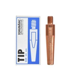 トーキン CO2/MAG/MIG溶接用 Nチップ(パナソニック溶接システム用) φ0.8mm.(標準タイプ 10本入) TIP 02 005