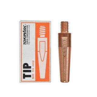 トーキン CO2/MAG/MIG溶接用 Dチップ(ダイヘン用) φ0.8mm.(標準タイプ 10本入) TIP023007