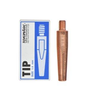 トーキン CO2/MAG/MIG溶接用 Nチップ(パナソニック溶接システム用) φ1.4mm.(標準タイプ 10本入) TIP 002 017