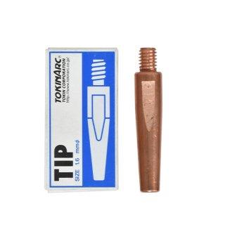 トーキン CO2/MAG/MIG溶接用 Nチップ(パナソニック溶接システム用) φ1.6mm.(標準タイプ 10本入) TIP 002 004