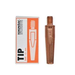 トーキン CO2/MAG/MIG溶接用 Dチップ(ダイヘン用) φ1.2mm.(標準タイプ 10本入) TIP0230010