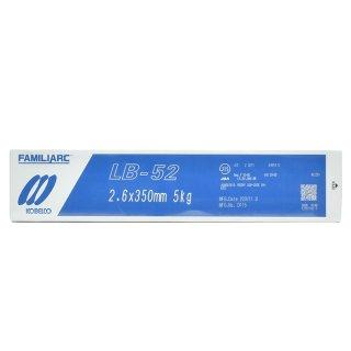 KOBELCO LB-52(LB52) 2.6mm×350mm 5kg/小箱 神戸製鋼 被覆アーク溶接棒 低水素系被覆アーク溶接棒