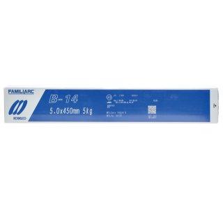 KOBELCO B-14(B14) 5.0mm×450mm 1kg バラ売り 神戸製鋼 被覆アーク溶接棒 造船、車両、建築などの構造溶接用