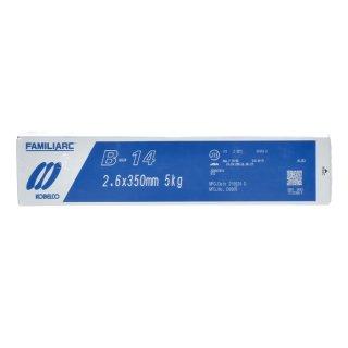 KOBELCO B-14(B14) 2.6mm×350mm 1kg バラ売り 神戸製鋼 被覆アーク溶接棒 造船、車両、建築などの構造溶接用