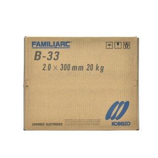 KOBELCO B-33(B33) 2.0mm×300mm 20kg/箱 神戸製鋼 被覆アーク溶接棒 化粧盛り被覆アーク溶接棒