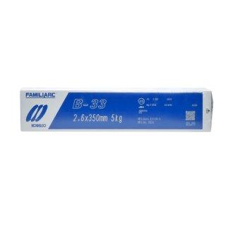 KOBELCO B-33(B33) 2.6mm×350mm 5kg/小箱 神戸製鋼 被覆アーク溶接棒 化粧盛り被覆アーク溶接棒