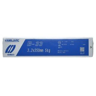 KOBELCO B-33(B33) 3.2mm×350mm 1kg バラ売り 神戸製鋼 被覆アーク溶接棒 化粧盛り被覆アーク溶接棒