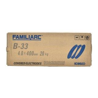 KOBELCO B-33(B33) 4.0mm×400mm 20kg/箱 神戸製鋼 被覆アーク溶接棒 化粧盛り被覆アーク溶接棒