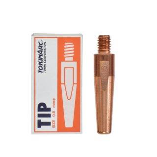 トーキン CO2/MAG/MIG溶接用 Dチップ(ダイヘン用) φ0.6mm.(標準タイプ 10本入) TIP023040