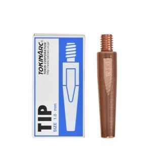 トーキン CO2/MAG/MIG溶接用 Nチップ(パナソニック溶接システム用) φ1.0mm.(標準タイプ 10本入) TIP 002 002