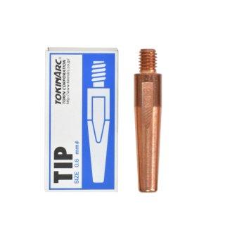 トーキン CO2/MAG/MIG溶接用 Nチップ(パナソニック溶接システム用) φ0.6mm.(標準タイプ 10本入) TIP 002 016