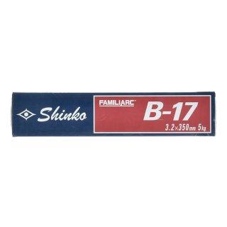 KOBELCO B-17(B17) 3.2mm×350mm 5kg/小箱 神戸製鋼 棒耐割れ性・耐ピット性に優れ、永く使用される被覆アーク溶接棒