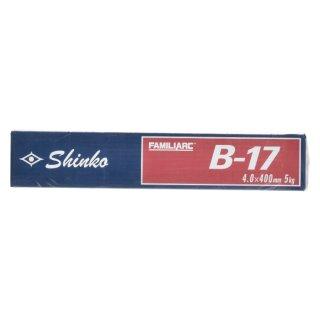 KOBELCO B-17(B17) 4.0mm×400mm 5kg/小箱 神戸製鋼 棒耐割れ性・耐ピット性に優れ、永く使用される被覆アーク溶接棒
