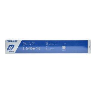 KOBELCO B-17(B17) 6.0mm×450mm 5kg/小箱 神戸製鋼 棒耐割れ性・耐ピット性に優れ、永く使用される被覆アーク溶接棒