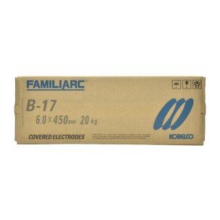 KOBELCO B-17(B17) 6.0mm×450mm 20kg/大箱 神戸製鋼 棒耐割れ性・耐ピット性に優れ、永く使用される被覆アーク溶接棒