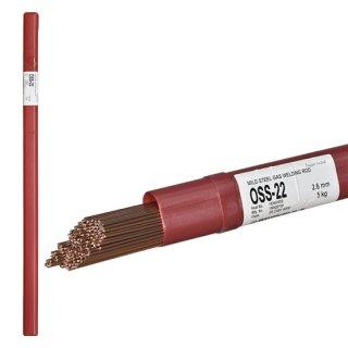 ニッコー溶材 ガス溶接で使用する軟鋼用ガス溶加棒(ガス棒) OSS-22 線径2.6mm バラ売り1kg