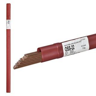 ニッコー溶材 ガス溶接で使用する軟鋼用ガス溶加棒(ガス棒) OSS-22 線径4.0mm バラ売り1kg