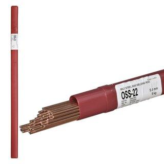 ニッコー溶材 ガス溶接で使用する軟鋼用ガス溶加棒(ガス棒) OSS-22 線径5.0mm バラ売り1kg